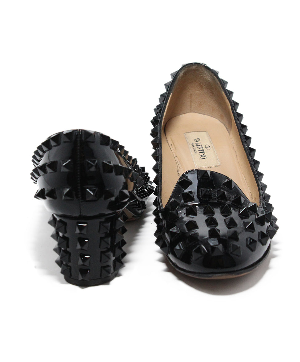 Valentino Black Patent Leather Stud heels 3
