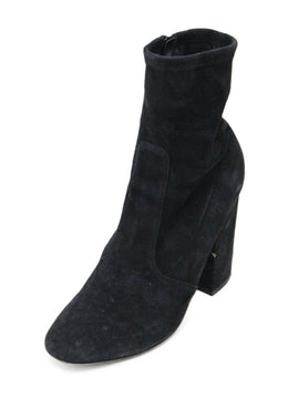 Valentino Black Suede Boots Size 9