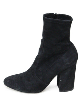 Valentino Black Suede Booties 1