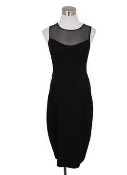 Valentino Black Viscose Illusion Dress 1