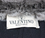 Valentino Black Wool Coat with Chinchilla Fur Collar 3