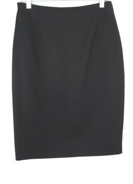 Valentino Black Wool Pencil Skirt 1