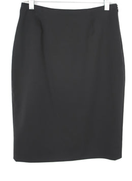 Valentino Black Wool Pencil Skirt 2