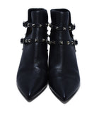 Valentino Black Leather Studded Booties sz. 39 | Valentino