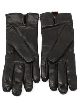 Valentino Brown Leather Gloves 1