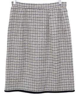 Valentino Brown Tan Tweed Wool Velvet Skirt 2