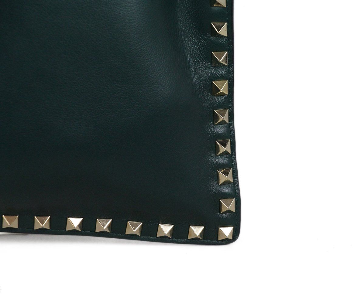 Valentino Green Leather Clutch 7