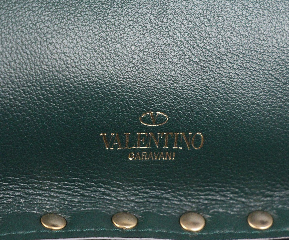 Valentino Green Leather Clutch 6
