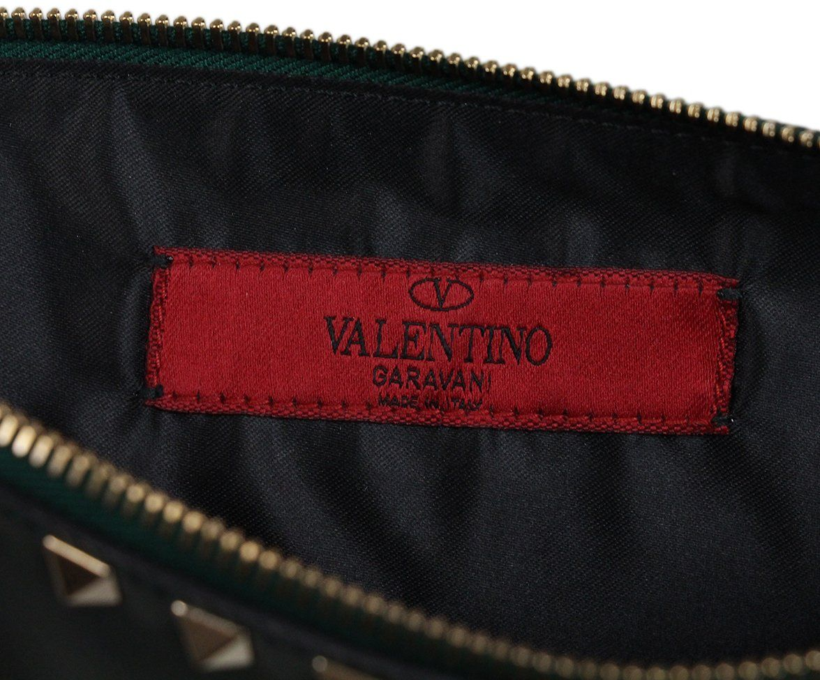 Valentino Green Leather Clutch 4