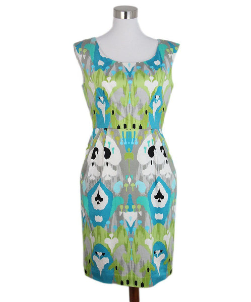 Valentino Green Teal White Print dress 1
