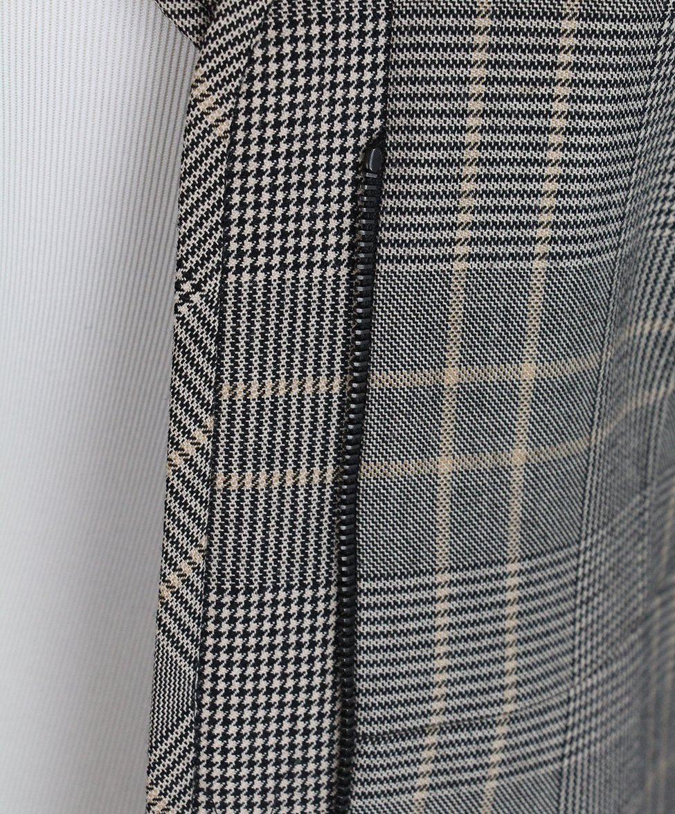 Valentino Grey Black Beige Plaid Jacket 8