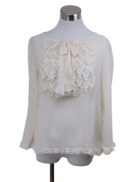 Valentino Ivory Silk Top