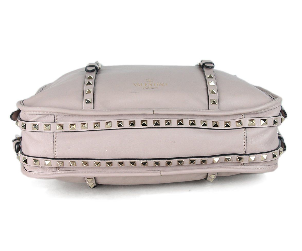 Valentino Mauve Leather Studded Tote 4