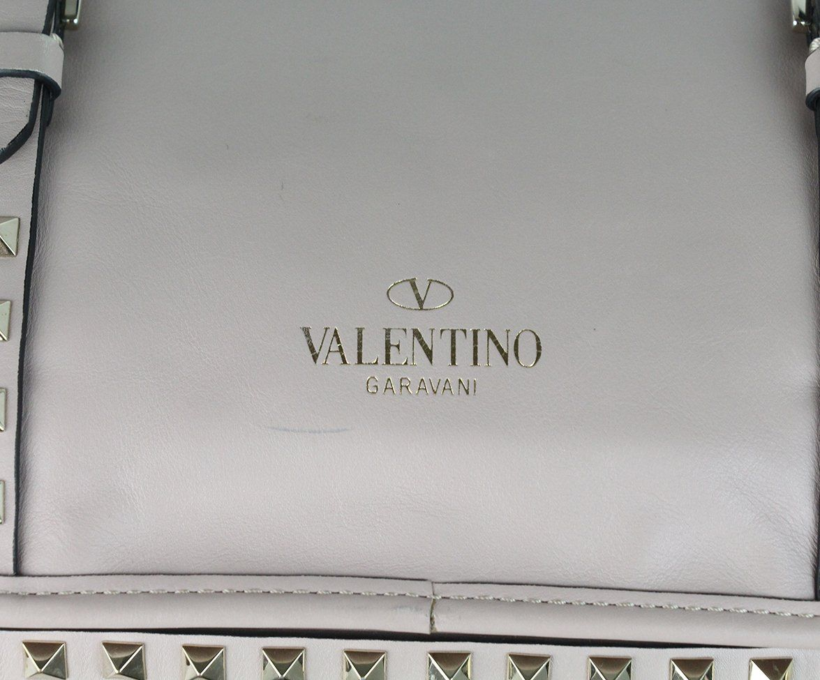 Valentino Mauve Leather Studded Tote 5