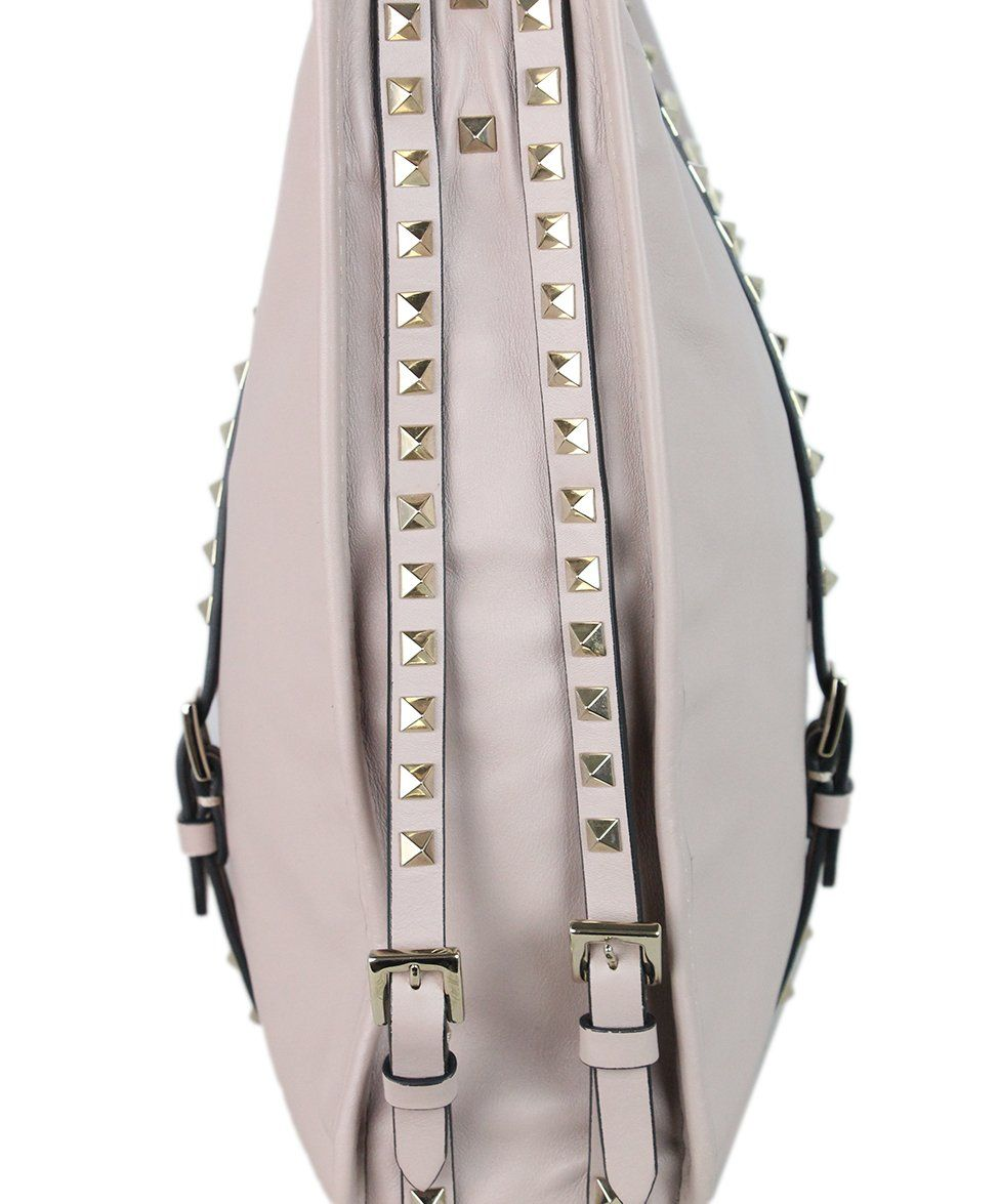 Valentino Mauve Leather Studded Tote 7