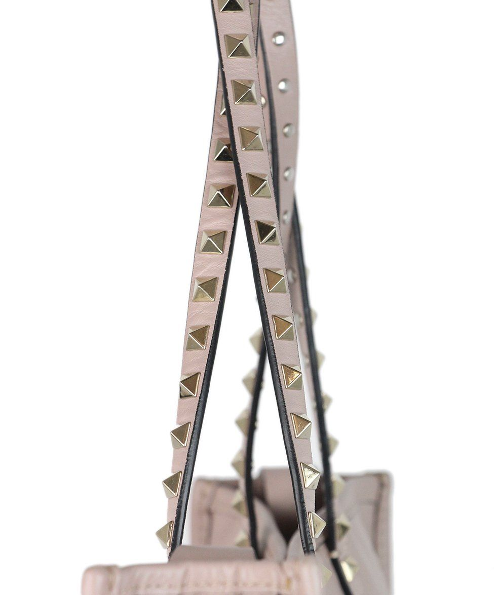 Valentino Mauve Leather Studded Tote 8