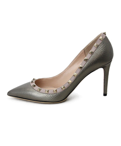 Valentino Metallic Bronze gold studded heels 1