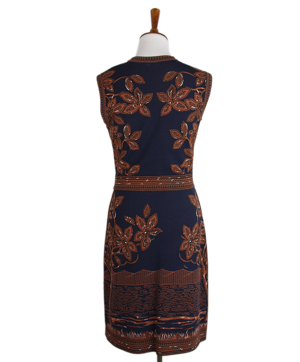 Valentino Navy Brown Knit Dress 3