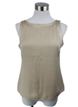 Valentino Neutral Beige Silk Top 1