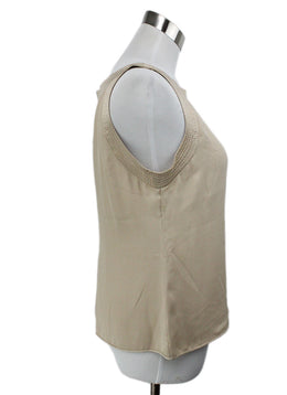 Valentino Neutral Beige Silk Top 2