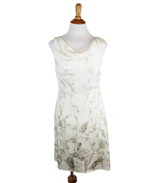 Valentino Ivory Floral Silk Dress Sz 6