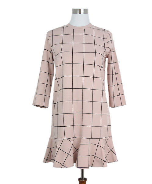 Valentino Pink Black Grid Stripe Dress 1