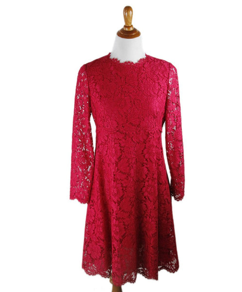Valentino Fuchsia Lace Dress