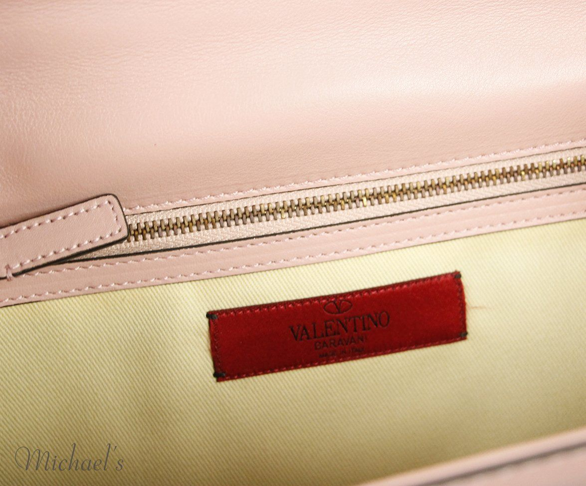 Valentino Pink Leather Bag 8