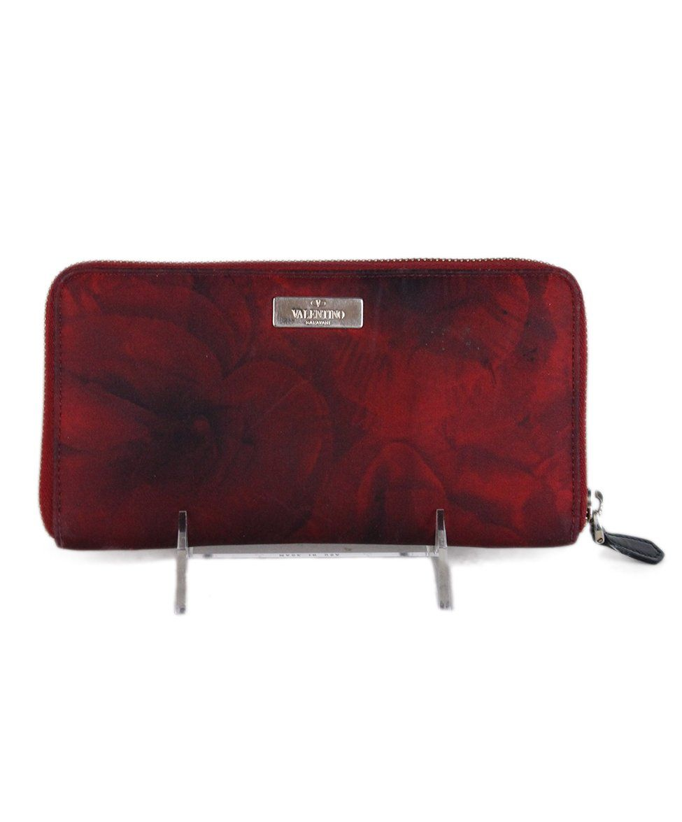 Valentino Red Black Nylon wallet 1