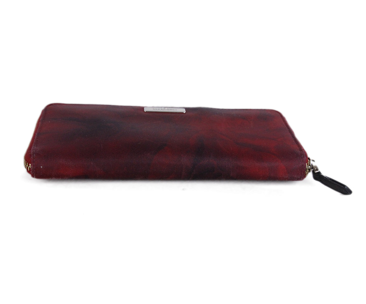 Valentino Red Black Nylon wallet 5