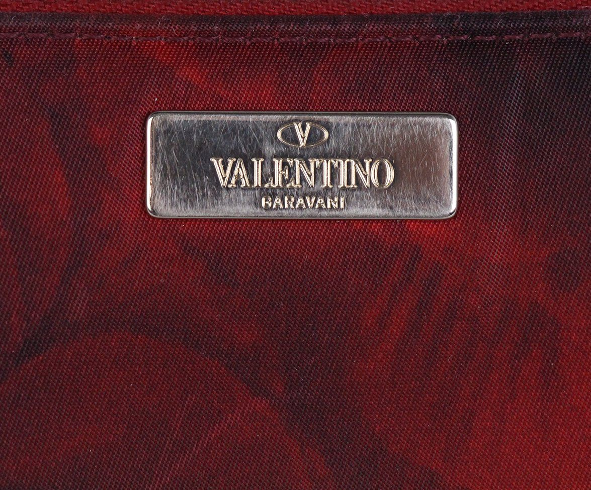 Valentino Red Black Nylon wallet 8