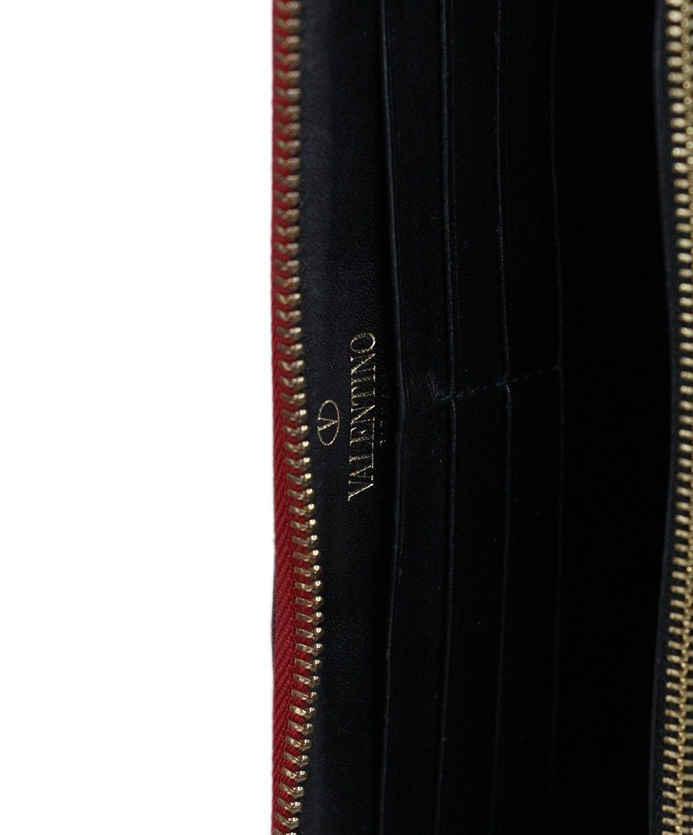 Valentino Red Black Nylon wallet 7