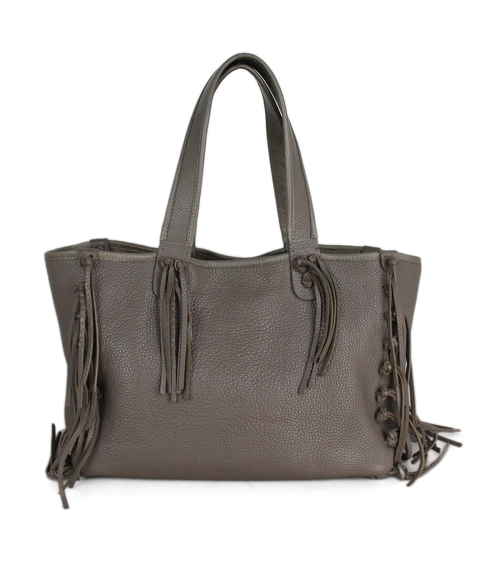 Valentino Taupe Leather Tote 3