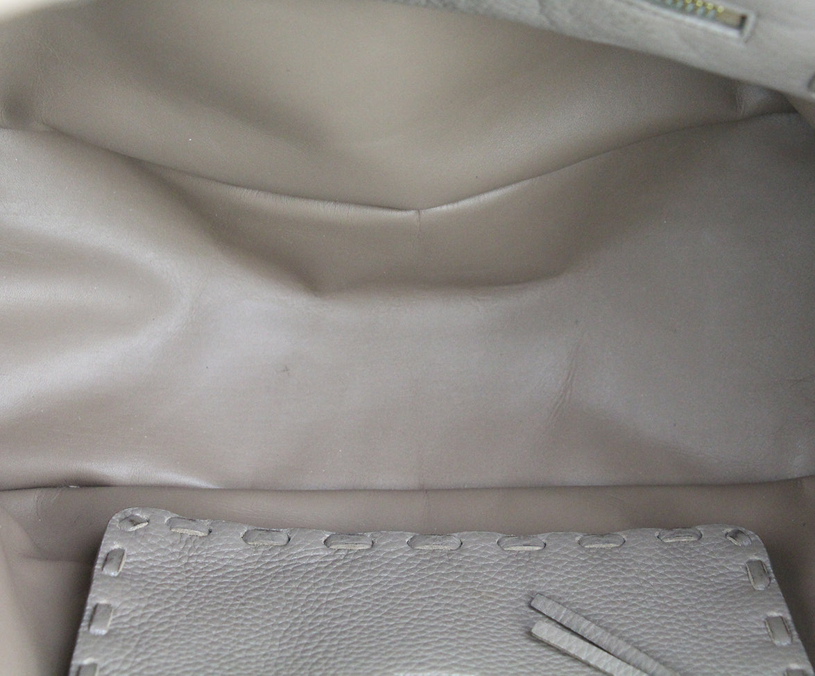 Valentino Taupe Leather Tote 7