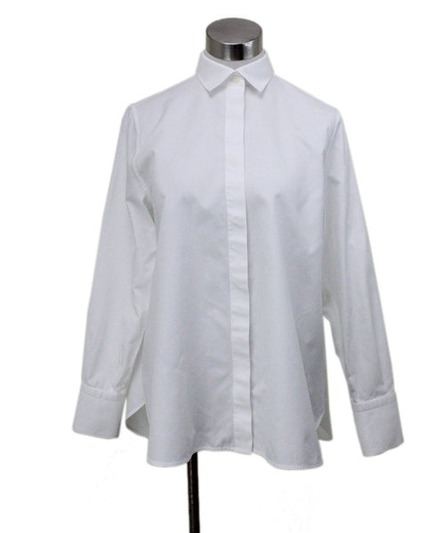 Valentino White Cotton Blouse sz 4