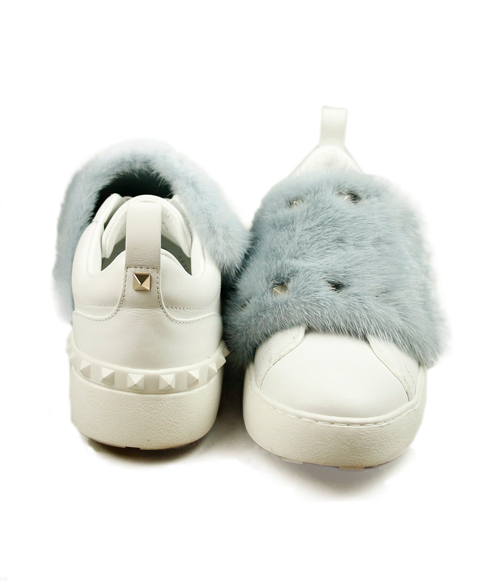 Valentino White Leather Blue Mink Sneakers 3