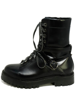 Valentino Black Leather Boots 2