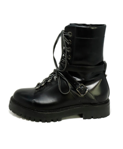 Valentino Black Leather Boots 1