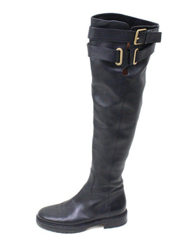 Valentino Black Leather Knee High Boots 1