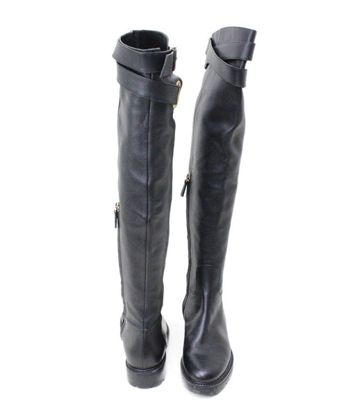 Valentino Black Leather Knee High Boots 2