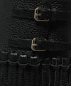 Valentino Shoe Size US 9.5 Black Leather Fringe Buckle Booties 7