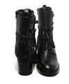 Valentino Shoe Size US 9.5 Black Leather Fringe Buckle Booties 5