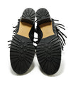 Valentino Shoe Size US 9.5 Black Leather Fringe Buckle Booties 4
