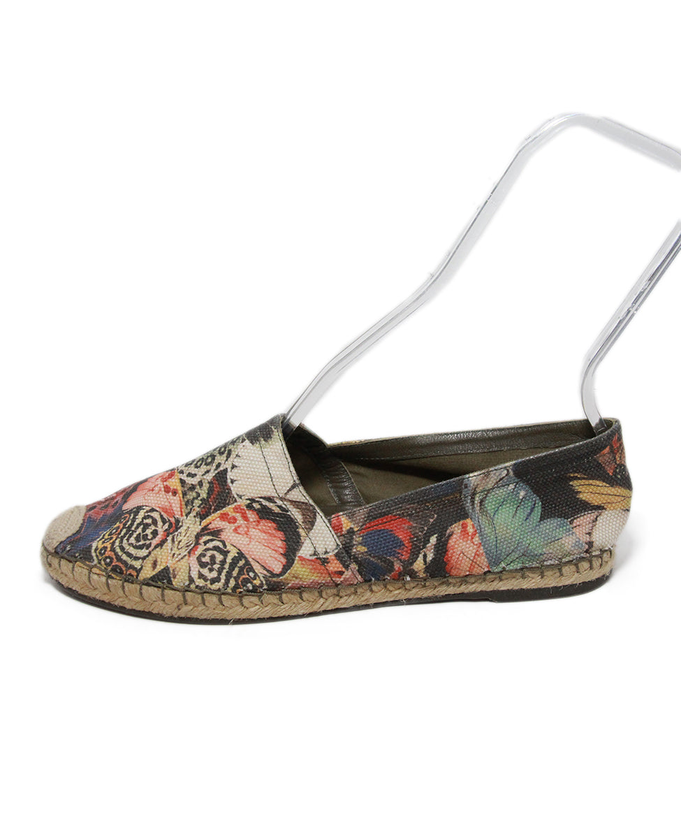 Valentino black pink yellow canvas flats espadrilles 2