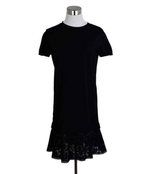 Valentino Black Viscose Rayon Lace Dress 1