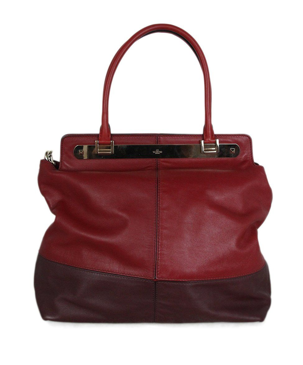 Valentino burgundy leather Tote 3