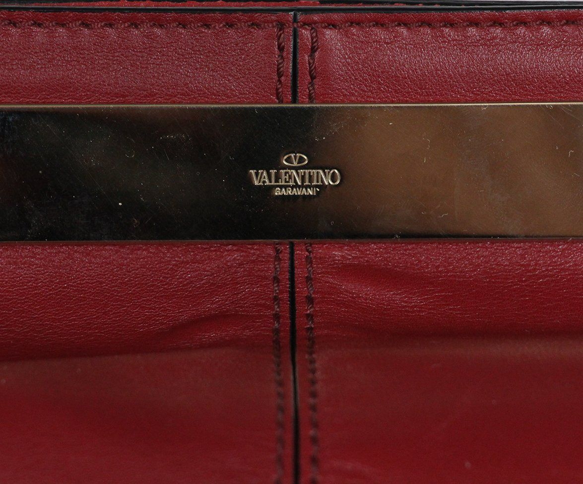 Valentino burgundy leather Tote 10