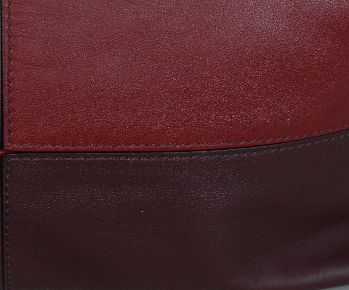 Valentino burgundy leather Tote 9