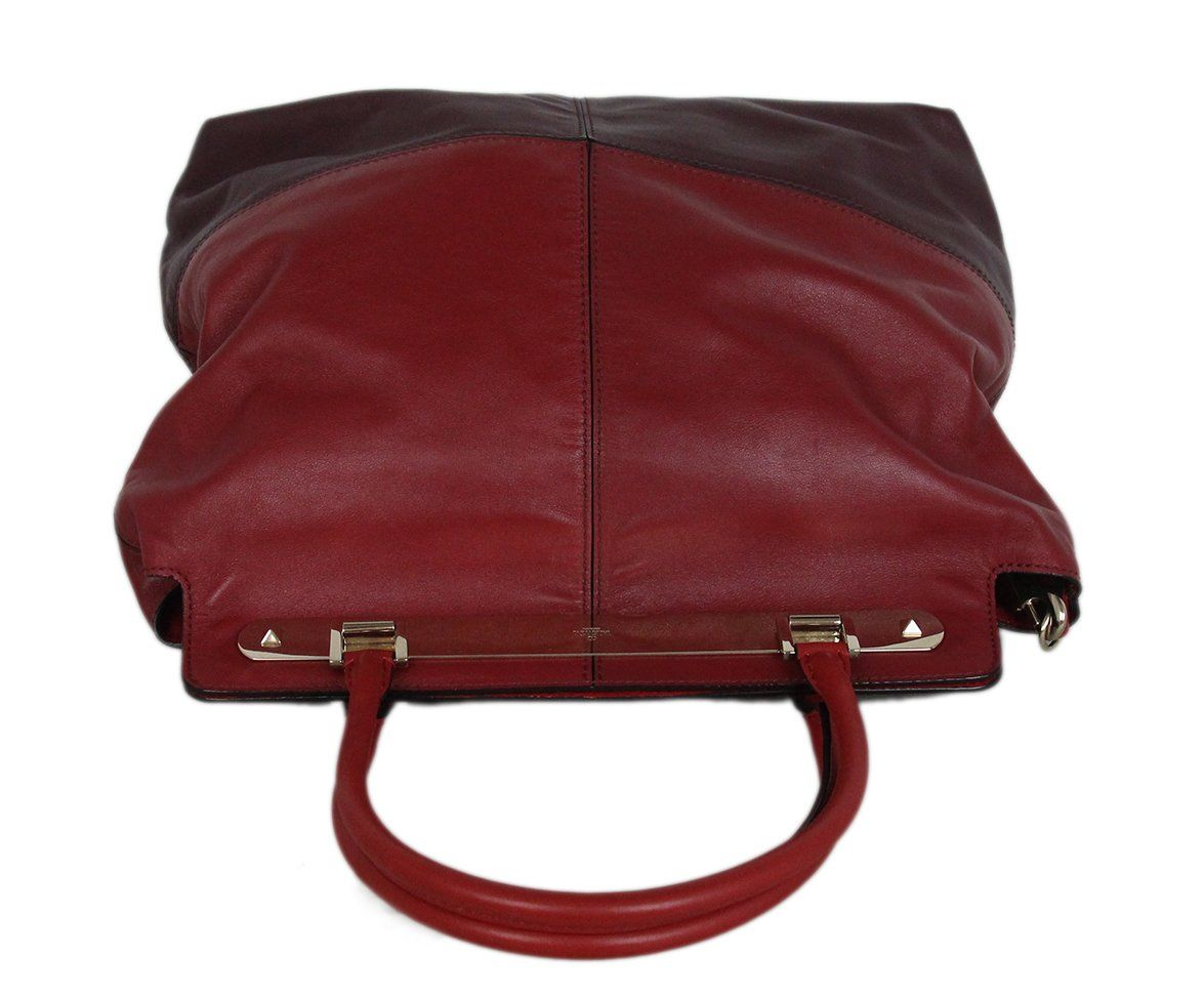 Valentino burgundy leather Tote 5