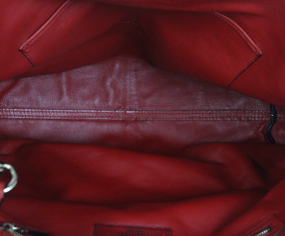Valentino burgundy leather Tote 6